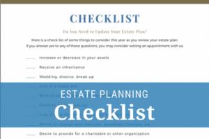 Downloadable Estate Planning Checklist