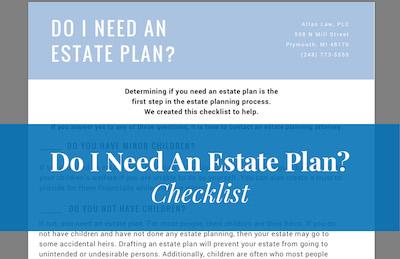Downloadable checklist for estate planning