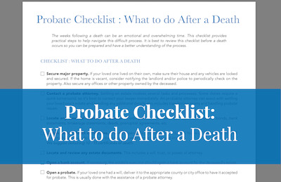 Downloadable checklist for probate
