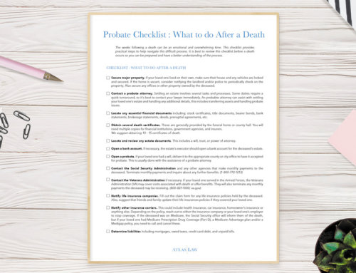 Probate Checklist: What to do After a Death